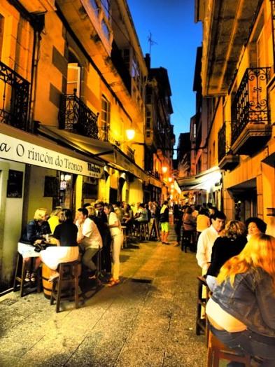 Nachts in den Straßen Galizien
